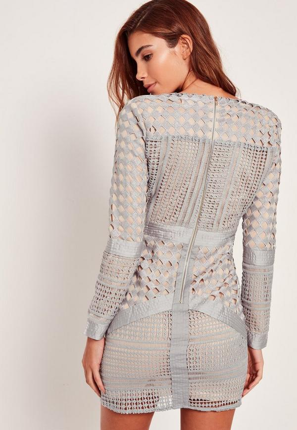 Plus size missguided lace plunge bodycon dress mini