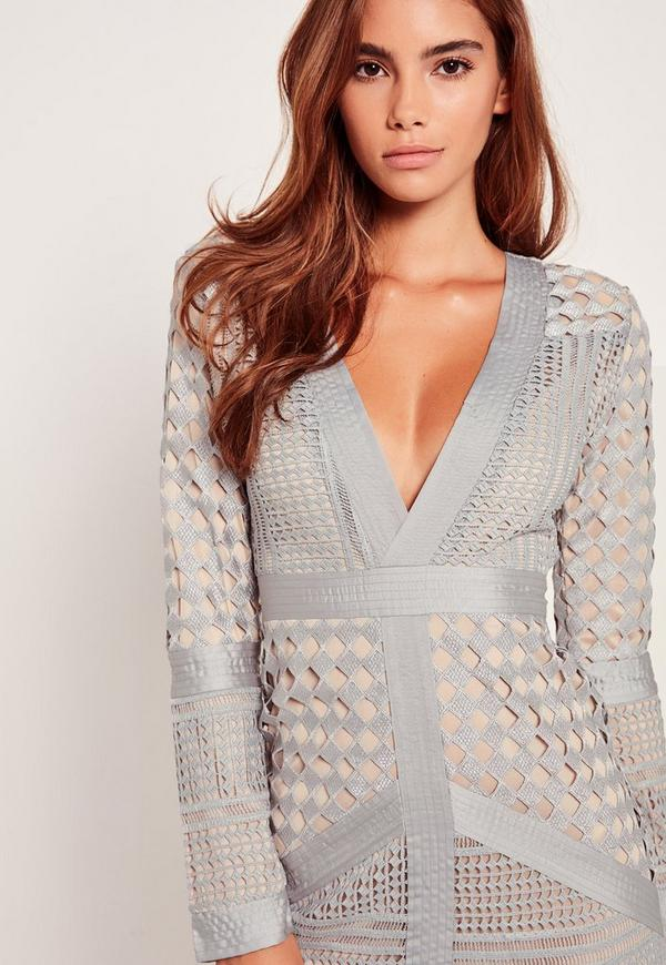 Definition missguided lace plunge bodycon dress inexpensive quick