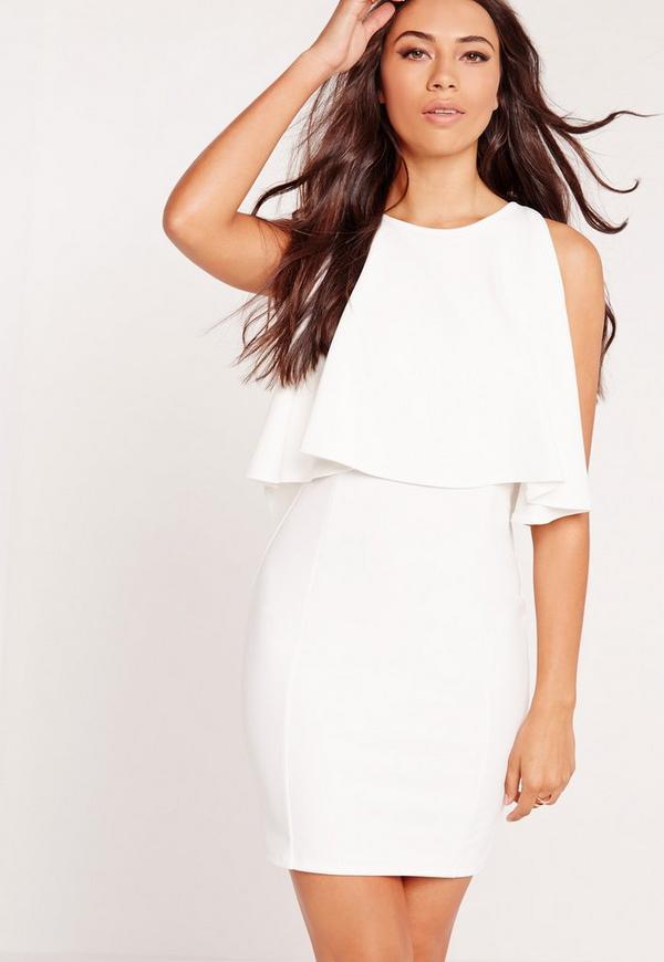 Bodycon Overlay Dress White