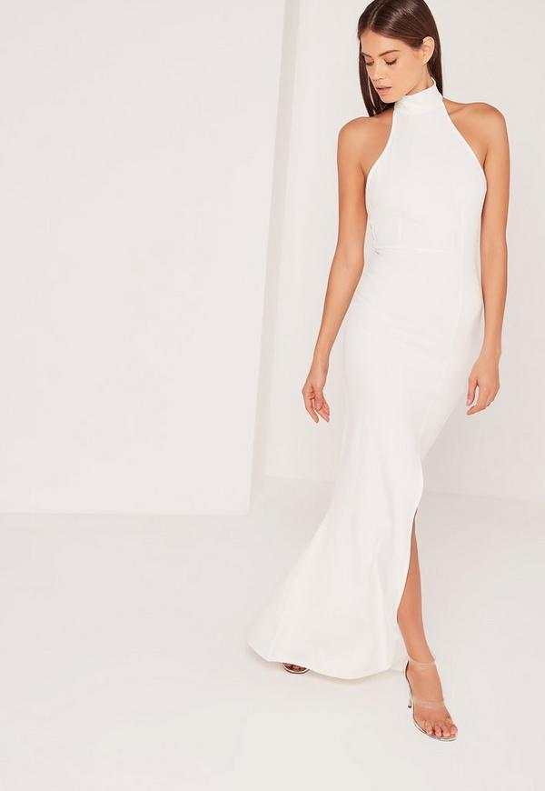 Choker Maxi Dress White