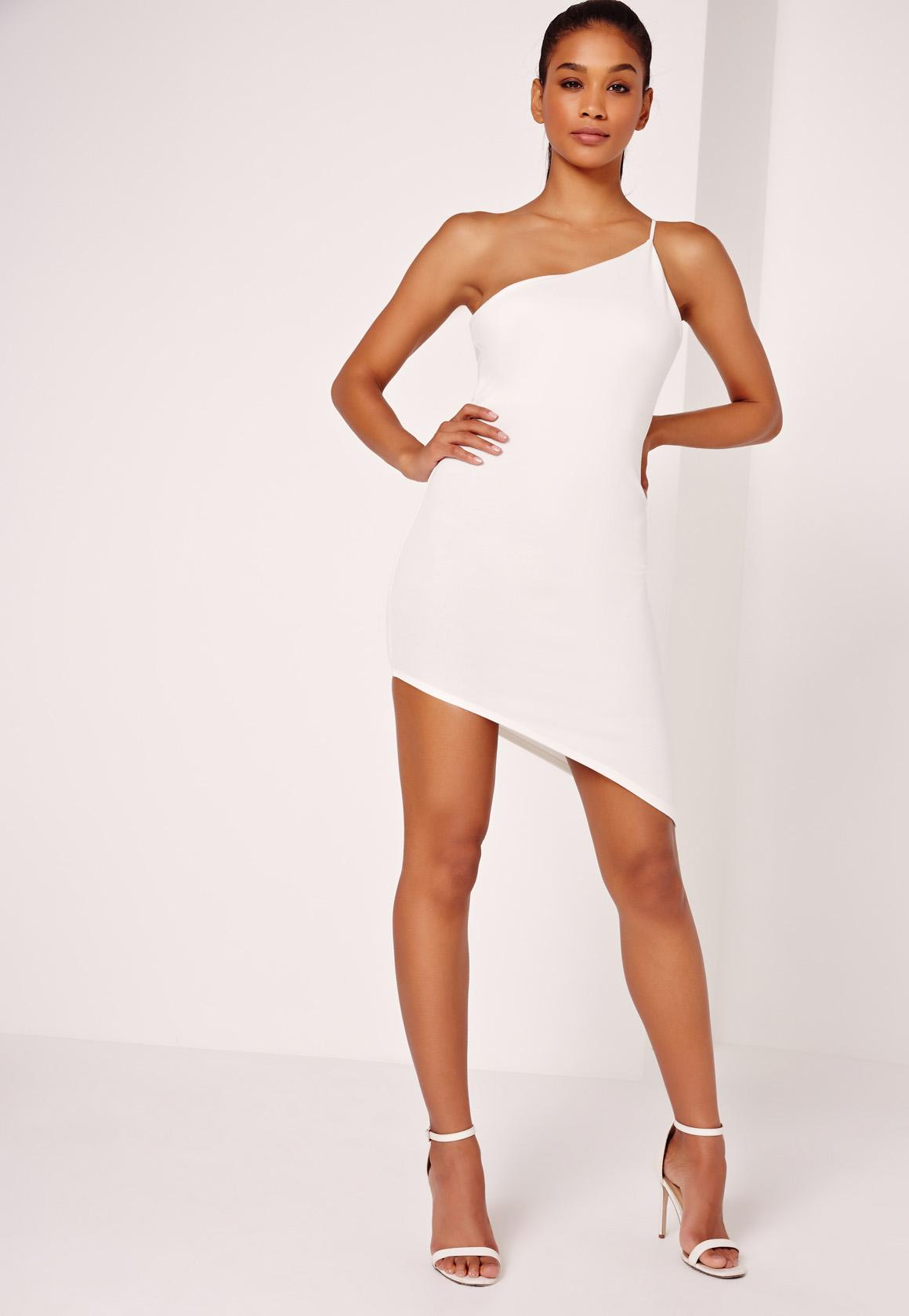 White v neck skater dress