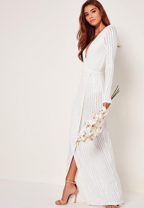 Maxi dress white sleeves