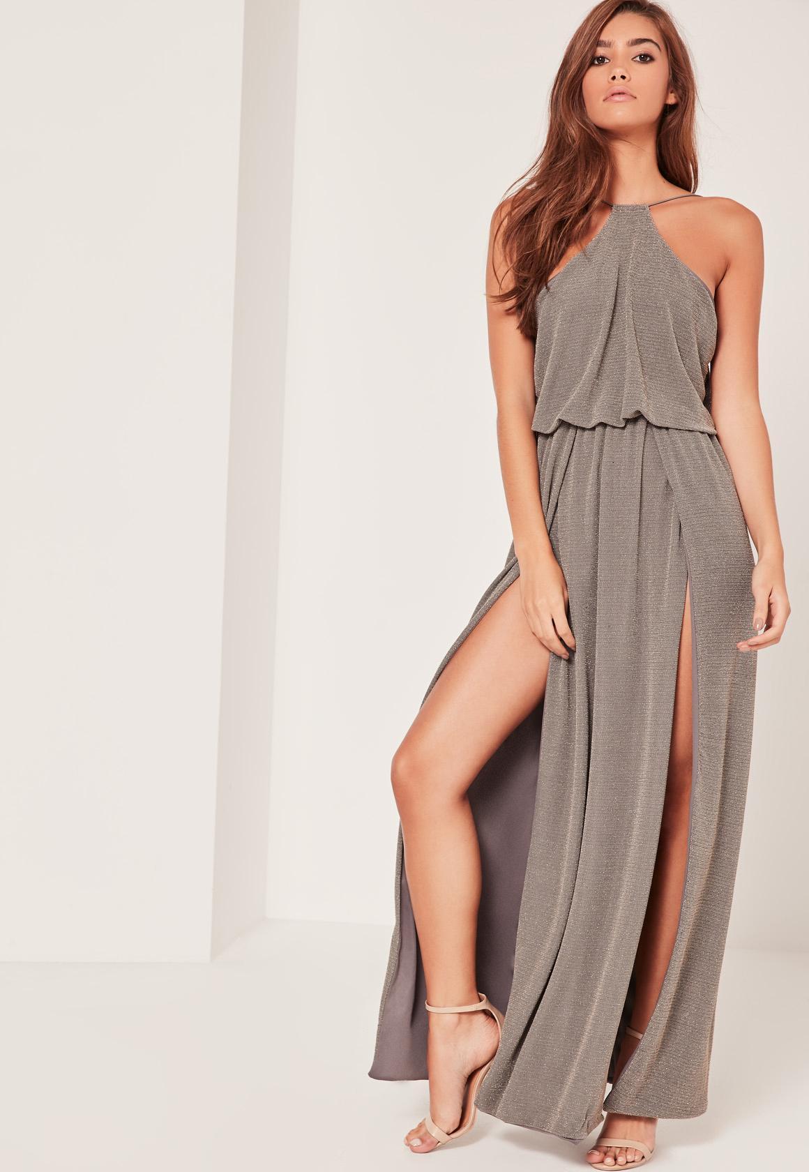 Jerseykleid lang mit schlitz - Stylische Kleider für jeden tag