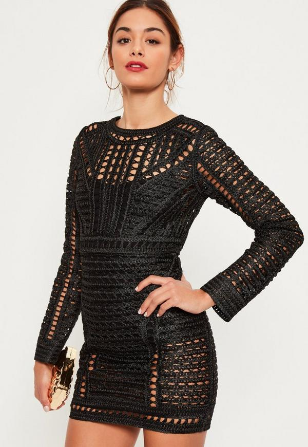 Shop crochet long sleeves dress at Neiman Marcus, where you will find free shipping on the latest in fashion from top designers.