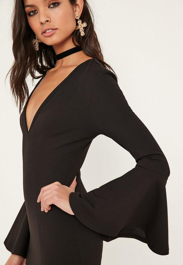 Batwing flutter bodycon mini with sleeves dresses tall ladies for
