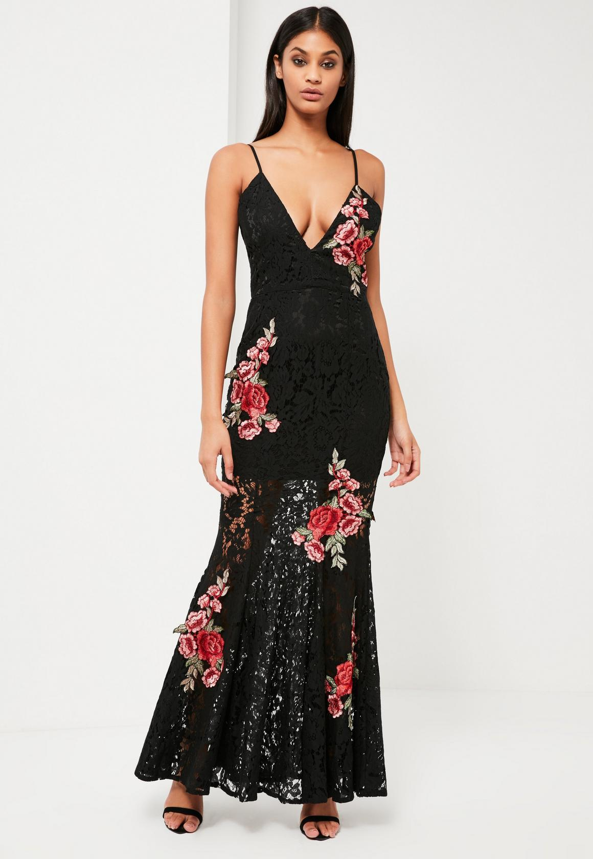 Gb embroidered maxi dress