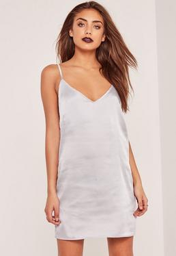 Silky Cami Dress Silver