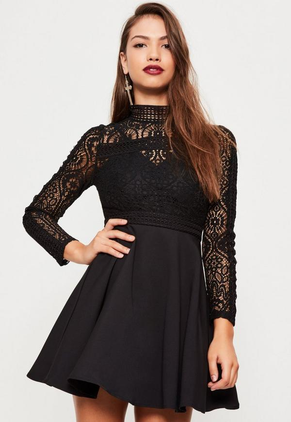 Robe patineuse col chemise