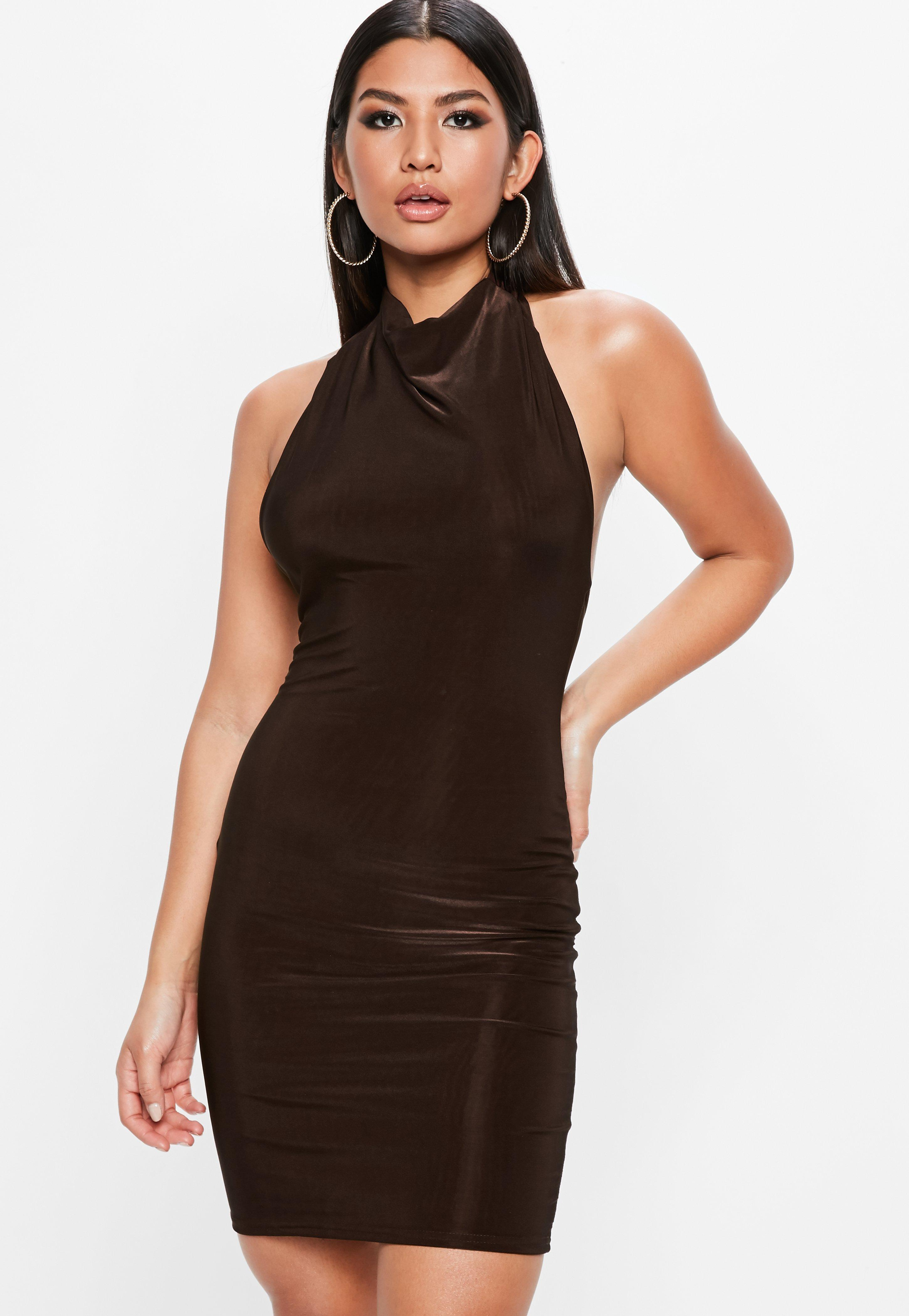 Brown Dresses | Taupe & Tan Dresses - Missguided