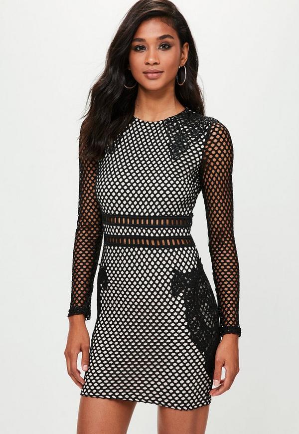 Premium Black Lace Bodycon Dress