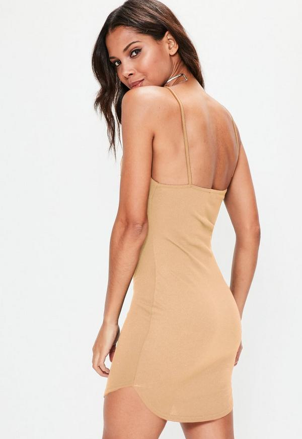 Websites list plunge extreme basic bodycon red dress strappy h&m