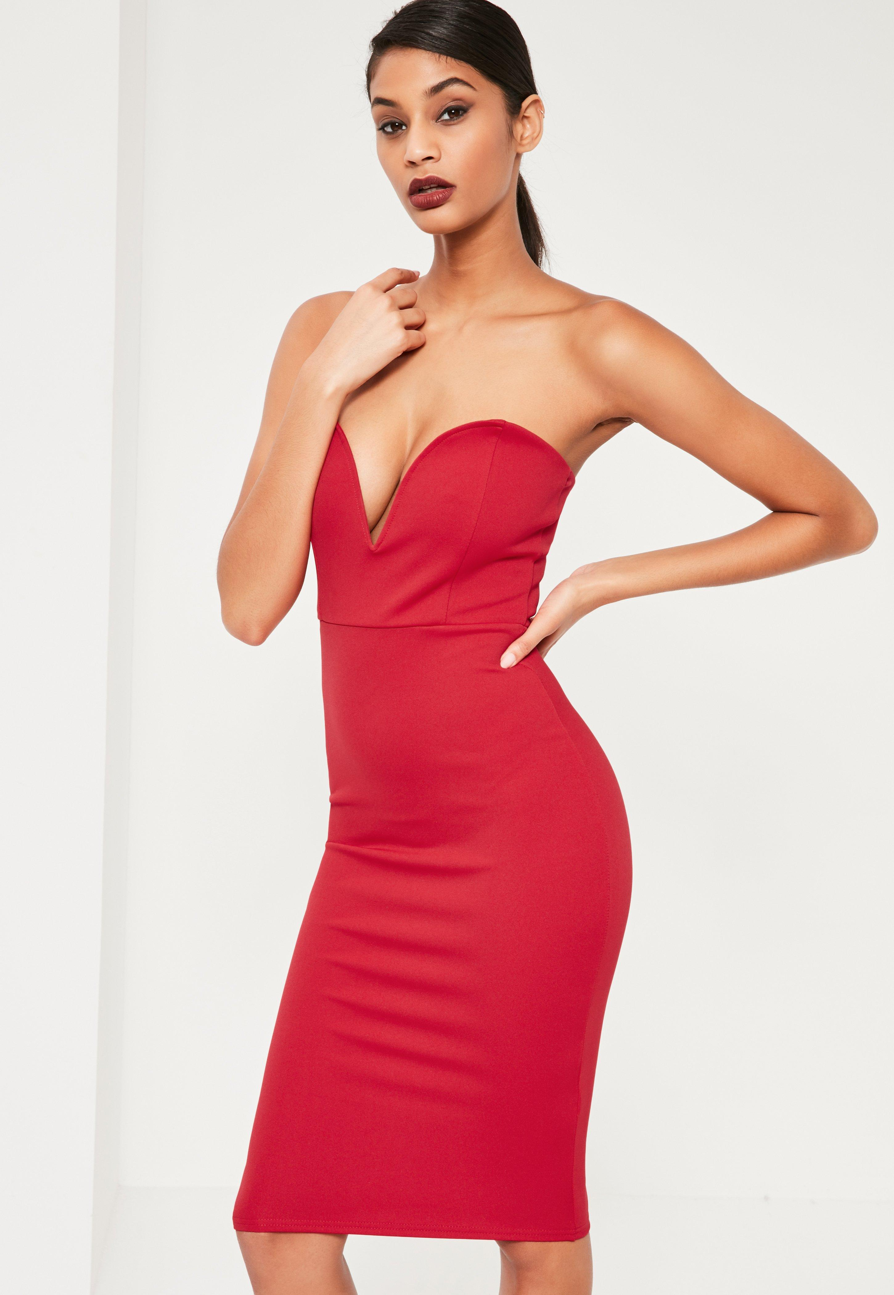 Red Cocktail Dresses   Shop Red Cocktail Dresses Online - Missguided