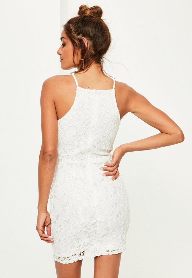 Missguided - Lace Square Neck Bodycon Dress - 3