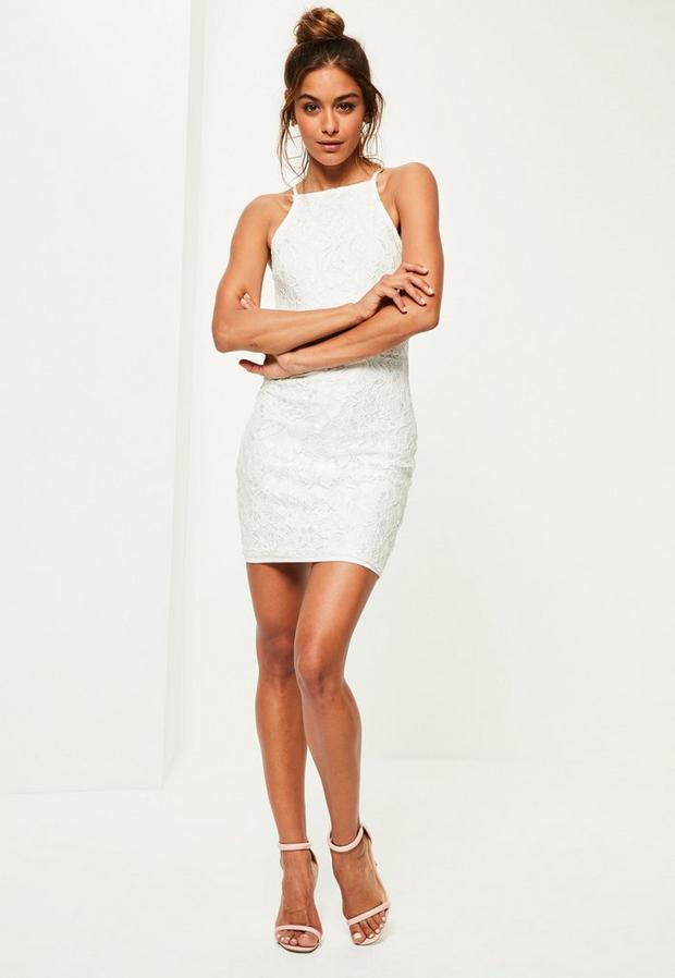 Missguided - Lace Square Neck Bodycon Dress - 4
