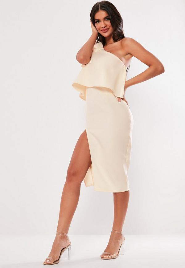 Topshop Taffeta Bow One-Shoulder Dress. Sale $ Orig $