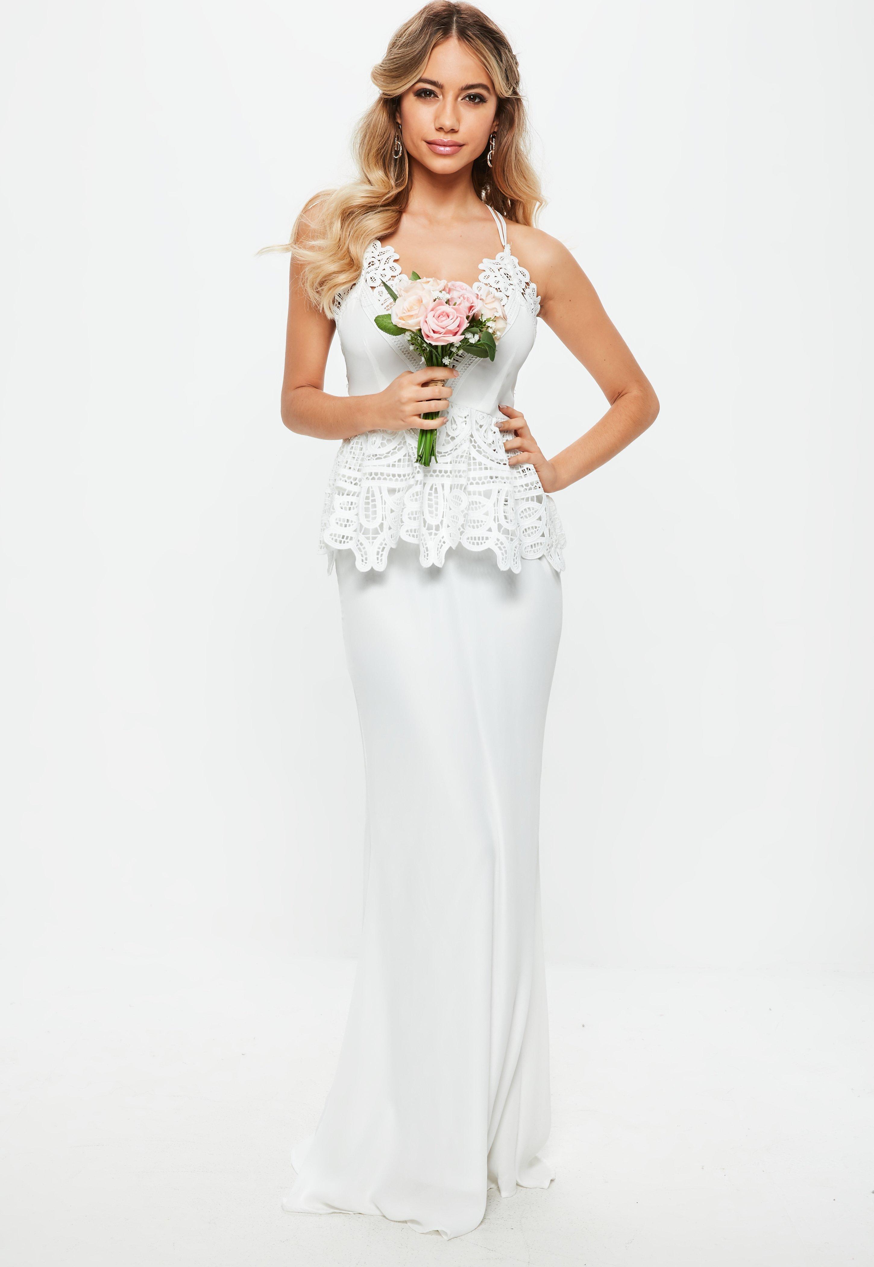 Black Stretch Off Shoulder Fitted Bardot Peplum Bodycon Dress Plus Size XL