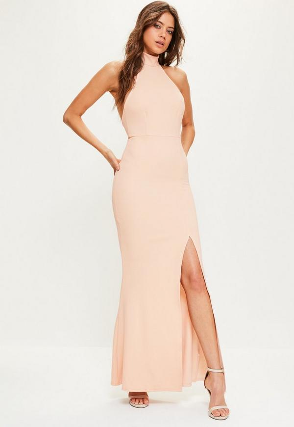 Pink Choker Maxi Dress | Missguided
