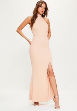 Pink Maxi Choker Dress