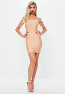 Różowa bandażowa sukienka