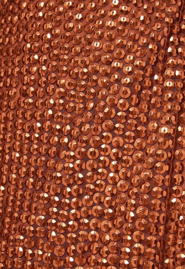 Peace Love Copper Sequin Wrap Mini Dress Missguided