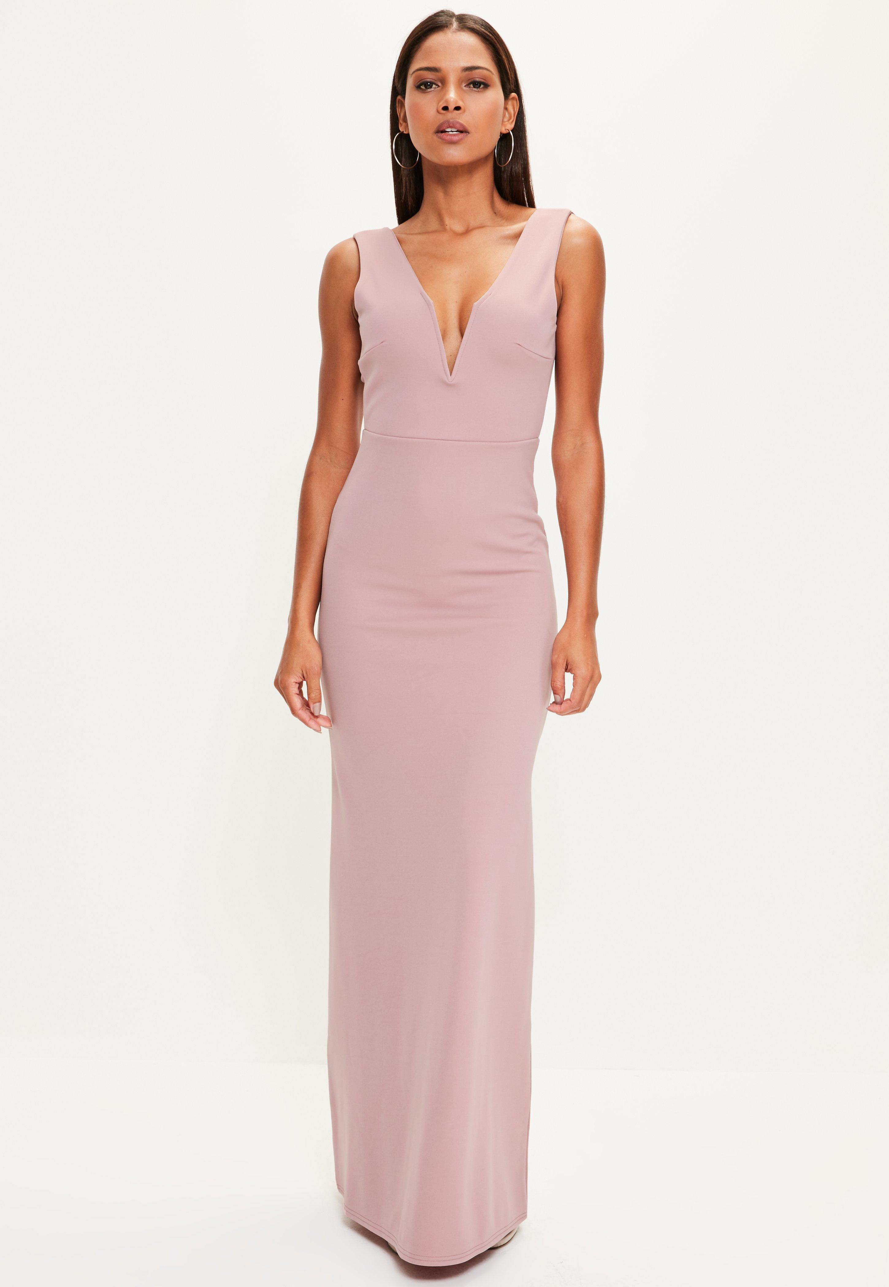 Missguided Plunge Maxi Dress Professional Online Cheap Great Deals Latest Collections pzYQokG5