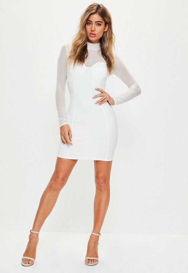 High neck dress long