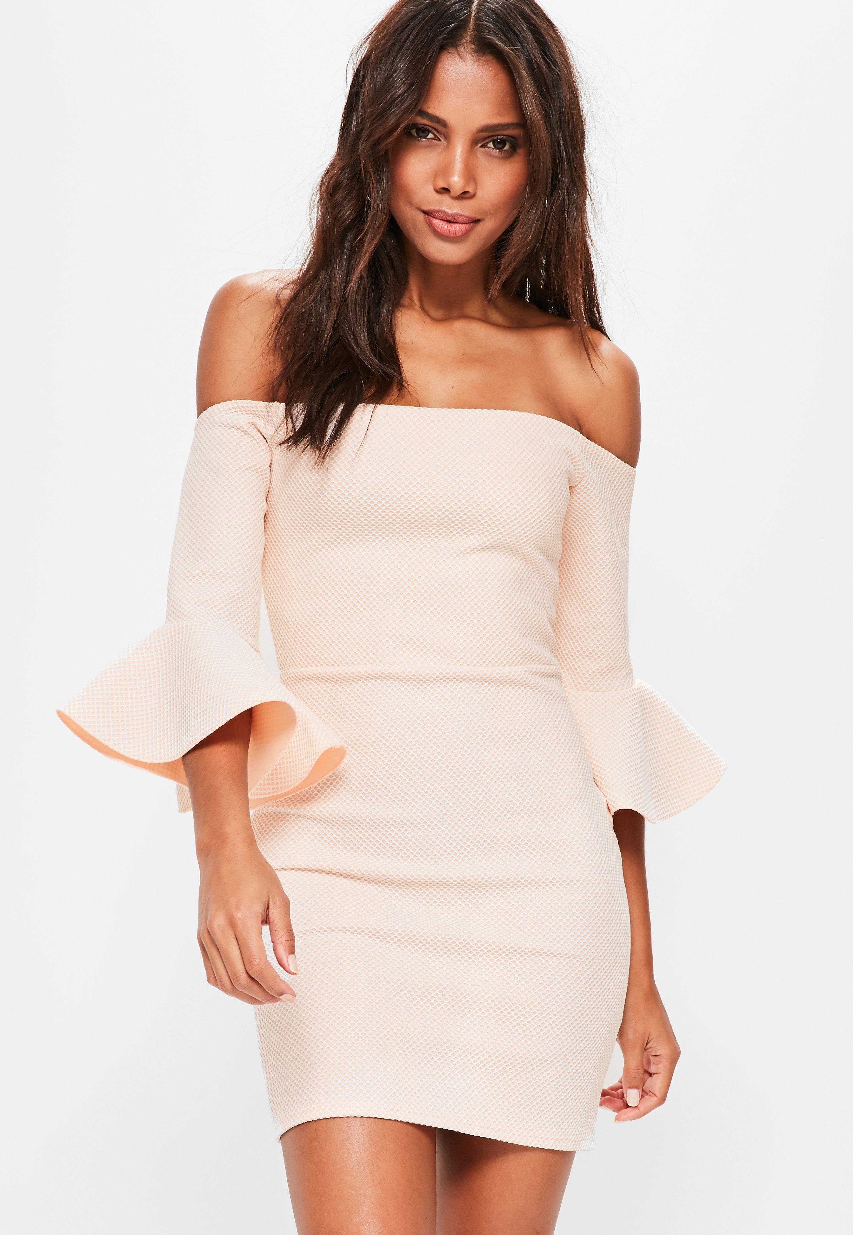 White Collar Detail Cut Detail Bodycon Dress Pretty Little Thing X0VhPjkdQ