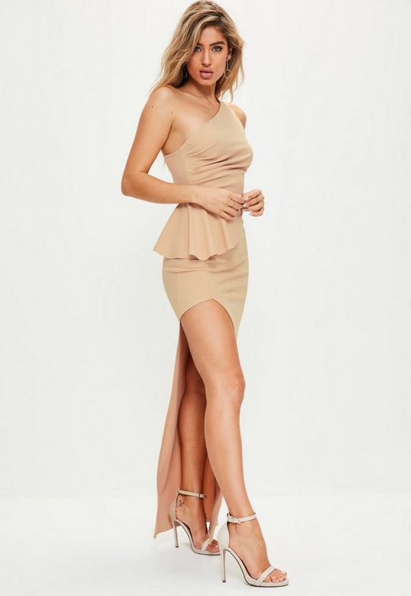 Peplum maxi dress