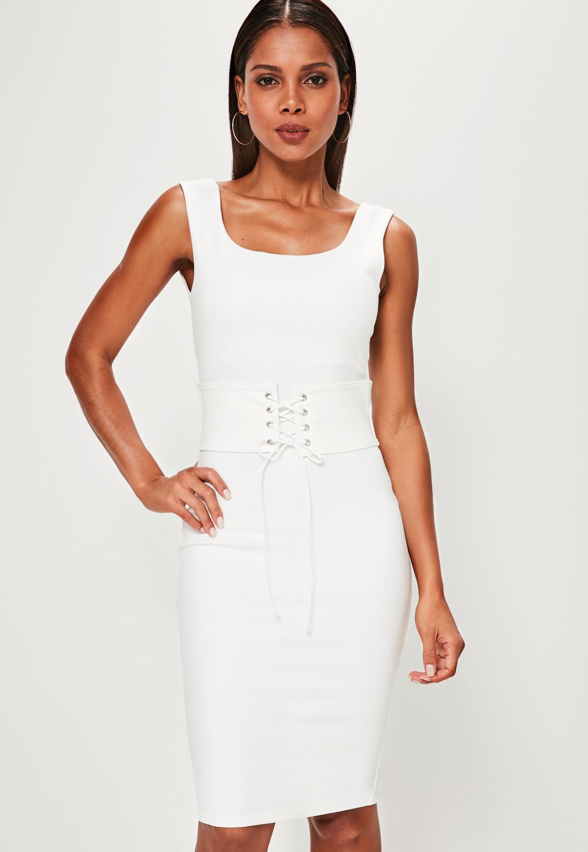 Corset dress white.