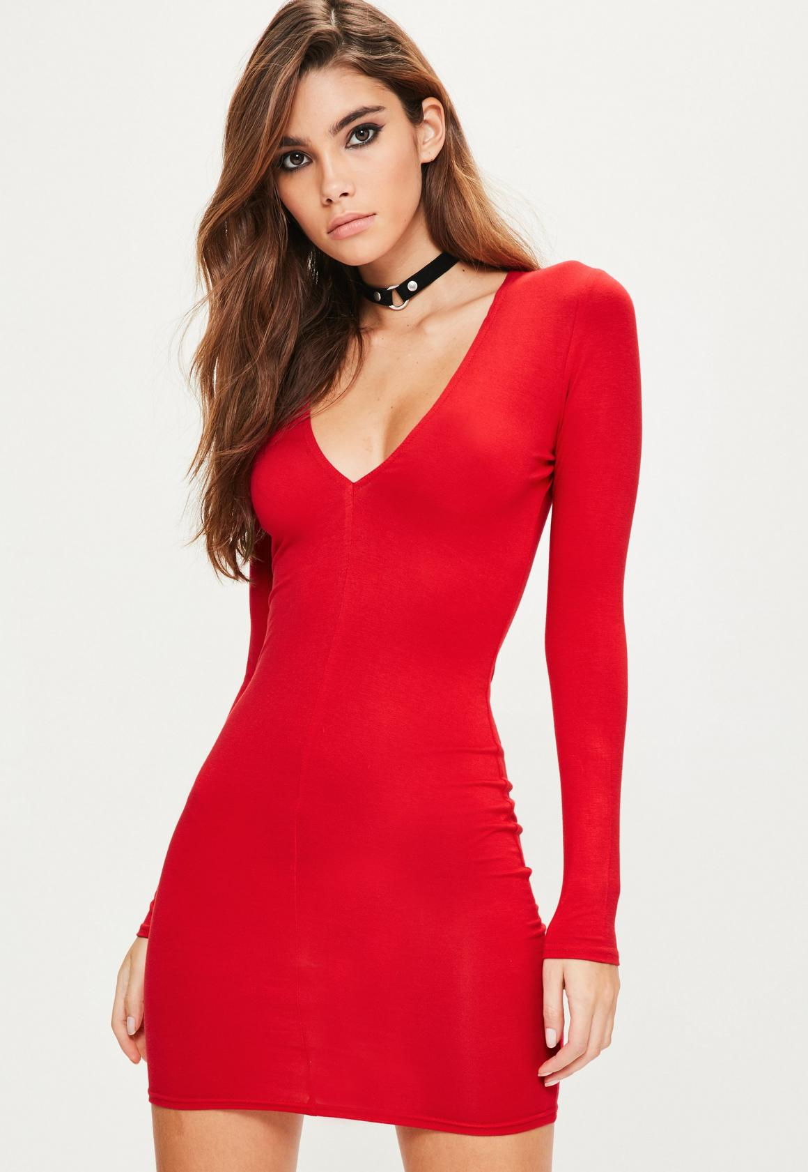 Red Bodycon Homecoming Dress