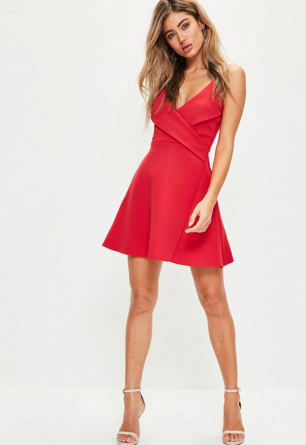 Robe de soiree patineuse rouge