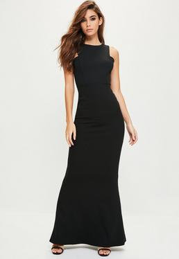 Black Low Back Maxi Dress