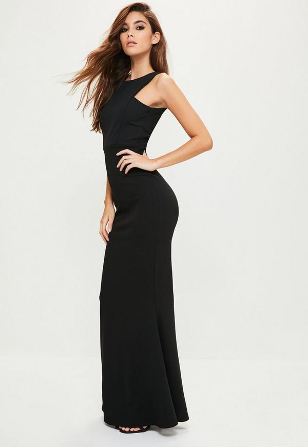 Black Low Back Maxi Dress | Missguided