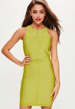 Green Sleeveless Bandage Bodycon Dress