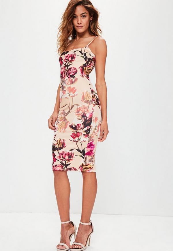 Pink Stry Printed Midi Dress Previous Next