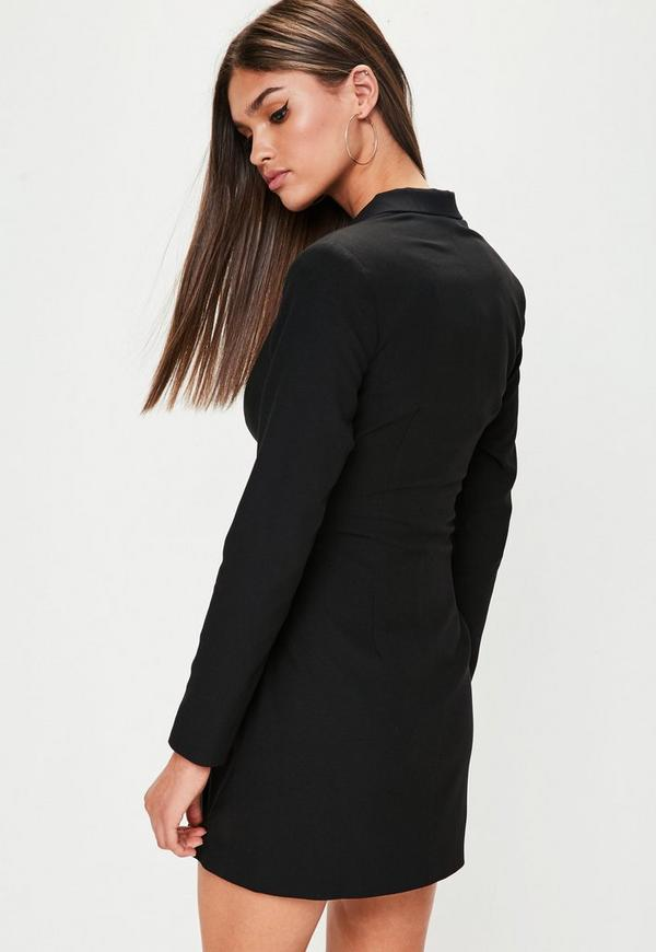Black Corset Front Blazer Dress | Missguided