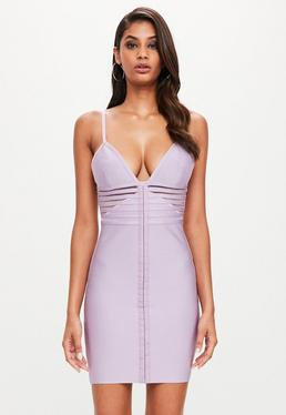 Peace + Love Lilac Strappy Bandage Dress