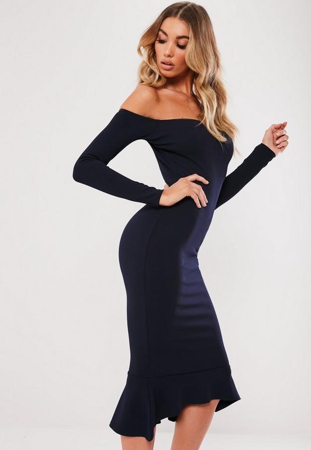 Missguided - Bardot Fishtail Hem Bodycon Dress - 3