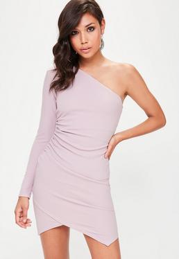 Lilac One Shoulder Bodycon Dress