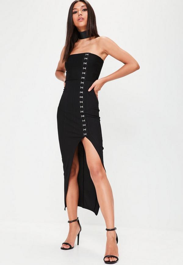 Black Bandage Strapless Dress