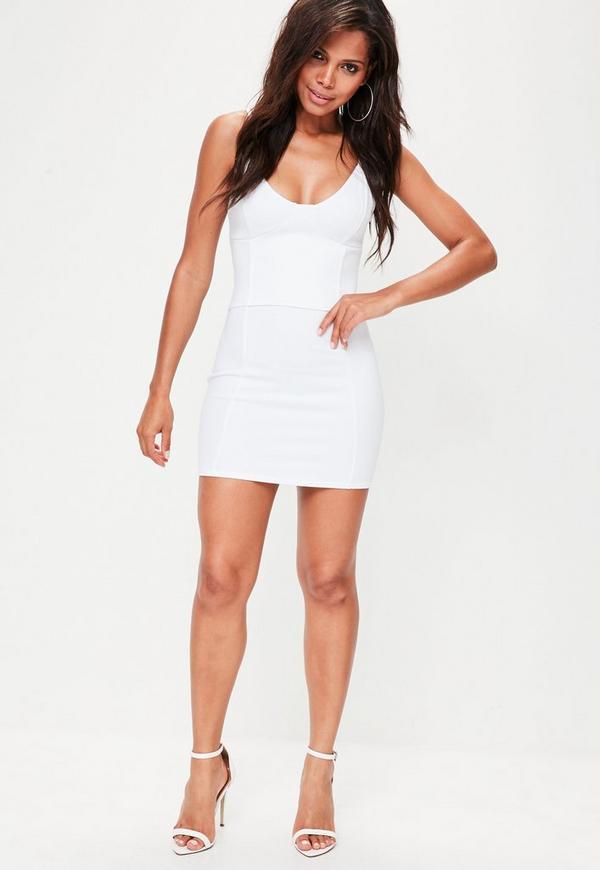 White Corset Cami Dress Missguided Ireland