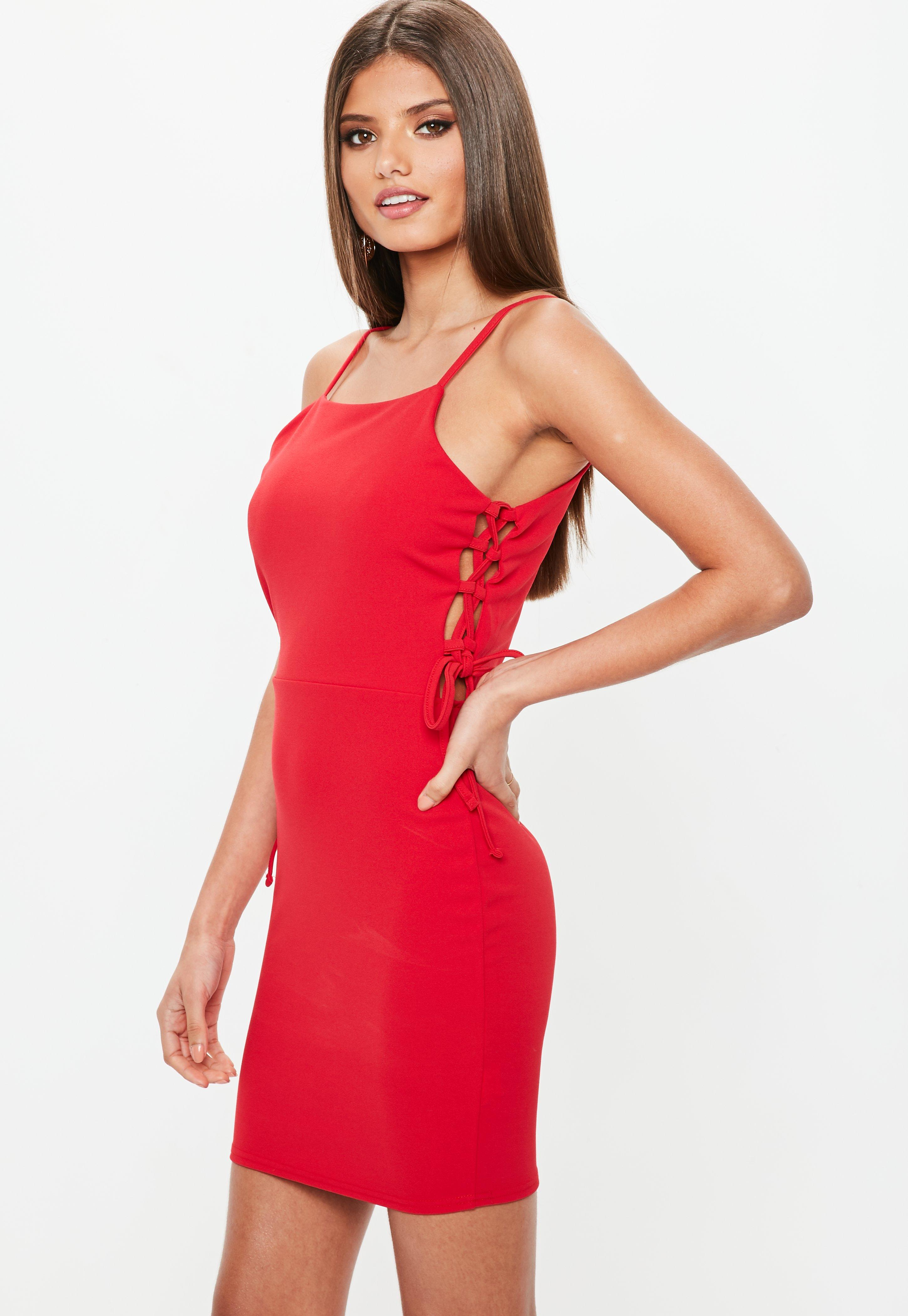 Black dress red lace