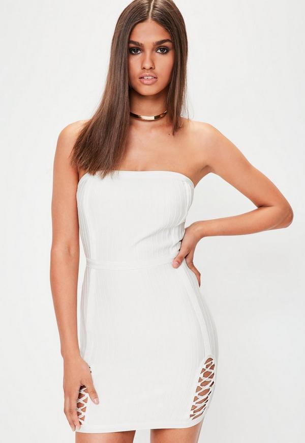 White Premium Bandage Mini Dress