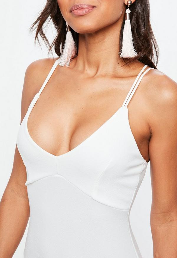 Vestido corto y blanco