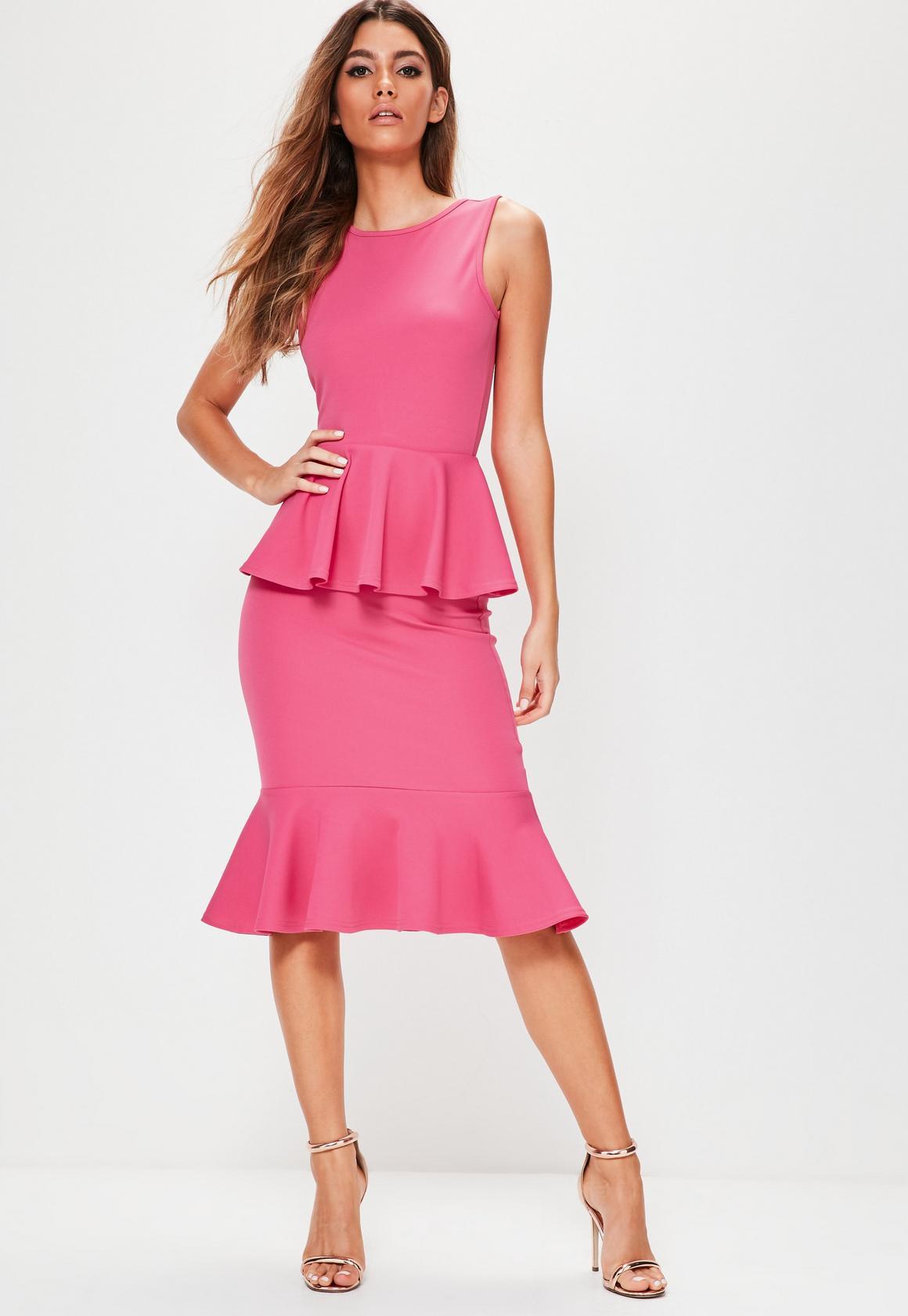 Peplum Dresses | Peplum Waist Dress - Missguided