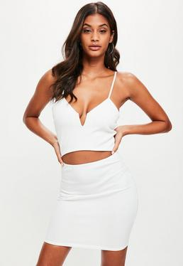 White Strappy Cut Out Waist Dress