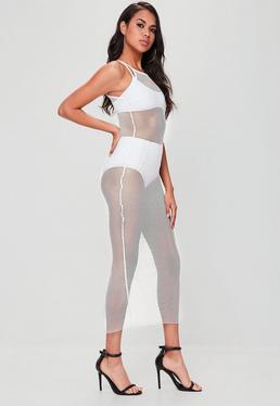 White Fishnet Maxi Dress