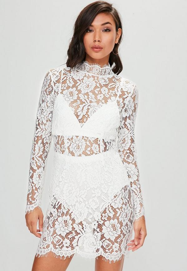 90101115ad5 Akira Feather Sleeve Mock Neck Sequin Sheer Bodycon Mini Dress In ...