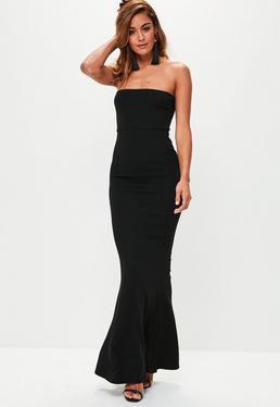 Black Crepe Sleeveless Maxi Dress