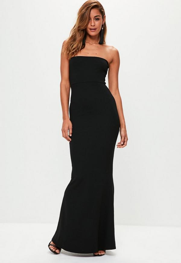 Black Crepe Sleeveless Maxi Dress Missguided